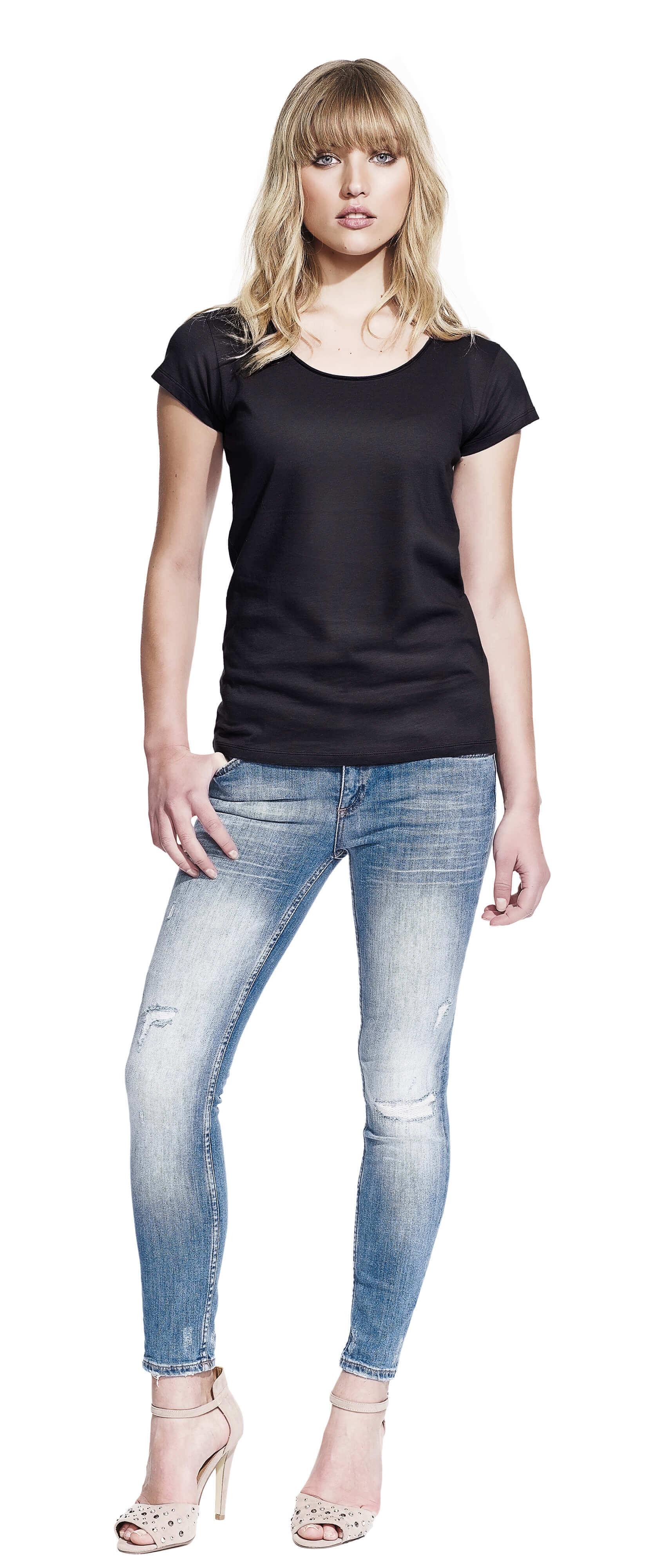 Continental n14 womens raw edge t shirt for Raw edge t shirt women s